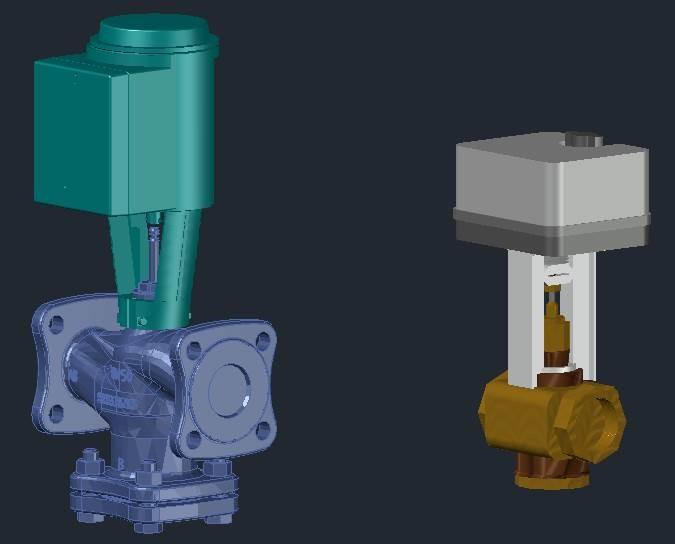 建立3D控制閥建模